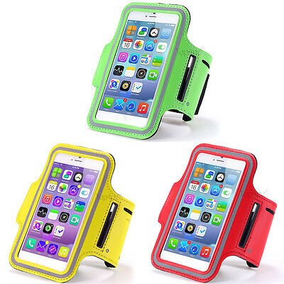 Lot 3 Brassards Sport Telephone Jaune + Rouge + Vert Pour Apple Iphone 6 6S