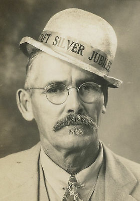 Antique 1935 Taft Ca Oil Well City Old Silver Jubilee Funny Hat Photobooth Photo