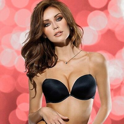 Reggiseno Lormar Double Gloss Balconcino Push-Up + 2 Taglie Schiena Nuda