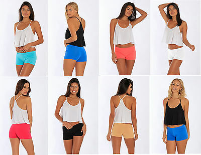 Fitted Cotton Spandex Hot Shorts Cut Blend 7 Colors 412