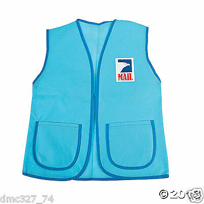 1 MAIL PERSON Carrier Play DRESS UP Accessory USPS Pretend MAILMAN VEST
