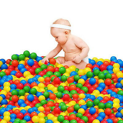 Ball Pit Balls for Baby Kids 100pcs Non-Toxic Crush Proof Ocean Plastic Ball