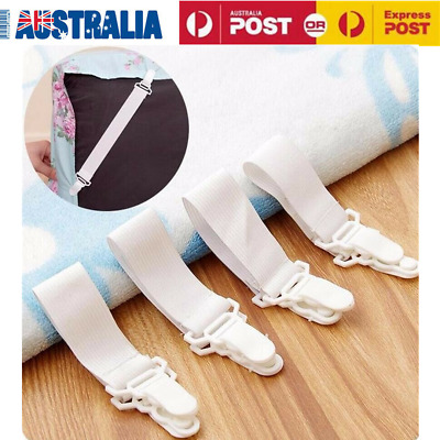 8pcs Elastic Bed Sheet Mattress Cover Blanket Grippers Clip Holder Fasteners Set