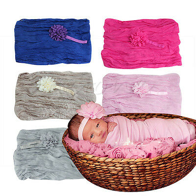 Soft Stretch Cheesecloth Wrap Baby Newborn Photography Prop Backdrop