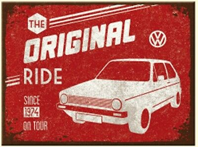 VW Golf Original Ride metal fridge magnet (na)