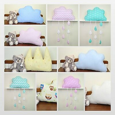 Pillows/cushions/ shape of a Crown or a Cloud/ Nursery decoration/ Newborn room