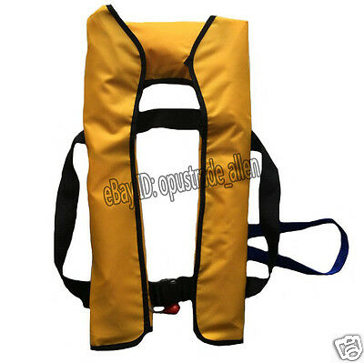 NEW Adult Inflatable Life Jacket Inflation 150N Manual/ Automatic Yellow