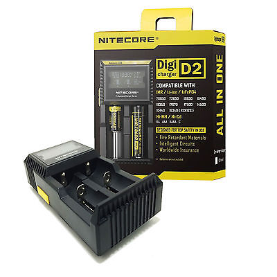 Nitecore D2 LCD Digital Charger
