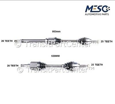 A Pair Of Drive Shaft Axle Ford Transit Connect 2002-2013 Right And Left