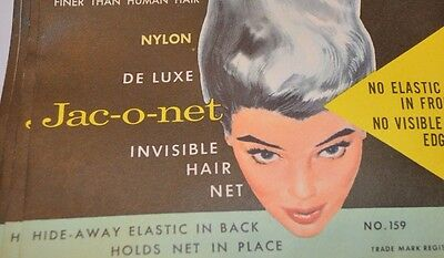 LOT OF 4 VINTAGE HAIR NETS Jac-o-net Nylon Deluxe Light Brown