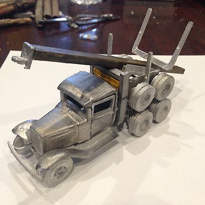 ULRICH O SCALE 1/48 On3 On30  FORD TANDEM AXLE CAB & LOGGING TRAILER   ALL METAL