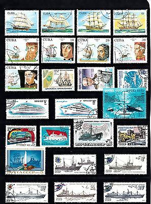 BOATS SHIPS Thematic STAMP COLLECTION Used Ref:TH578J