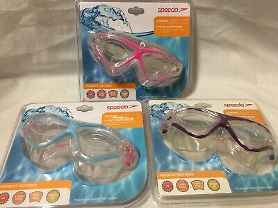 Speedo Hybrid Swim Mask Junior Swimmers Youth Teen Ages 6-14 Swimming Goggle NEW