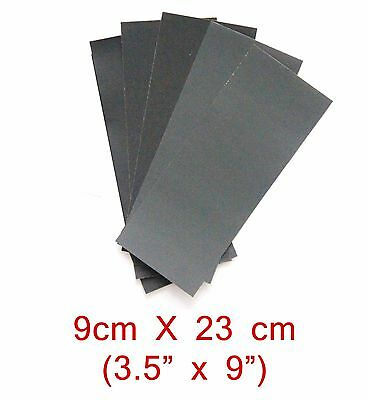 """6PC 1/3 Sheet 3 1/2"""" x 9"""" ASSORTED WET OR DRY SANDPAPER 1000 GRIT TO 3000 GRIT"""