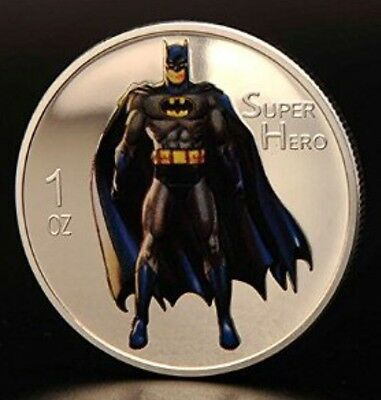 Batman Collectable Challenge Coin Finished In Silver .999 Weight 1oz  SALE ✔️