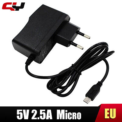 UE 5V 2.5A Micro Usb PC Power Supply Adapter Tablet Raspberry Pi B+ 2 3 Chargeur