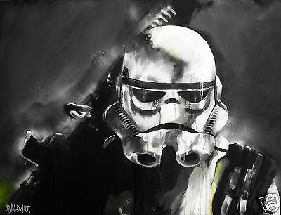 stormtrooper star wars street art print poster canvas  large By Andy Baker COA
