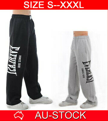 Everlast Mens Gym Pants Men Tracksuit Fleece Jogging Bottoms Track S M L Xl Xxl