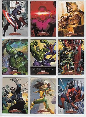 2007 Marvel Masterpieces Complete MASTER SET - One of a Kind! with Case Toppers!
