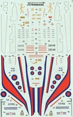 Xtradecal X72018 1/72 RAF Update 1990 Part 1 Model Decals