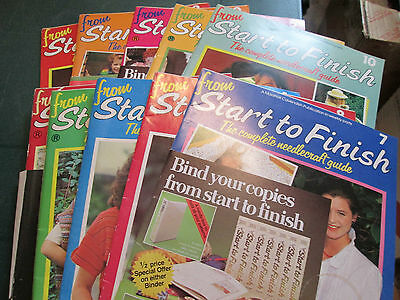 Lot Of 10 From Start To Finish Magazines (1-10) -Some Patterns Included
