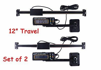 """2 Each Igaging 12"""" 300 mm Digital Readout DRO AC Pwr Articulating Remote Display"""