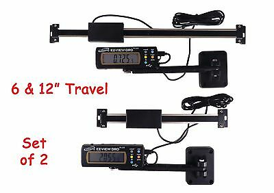 "Set 6"" and 12"" Igaging Digital Readout DRO AC Power Articulating Remote Display"