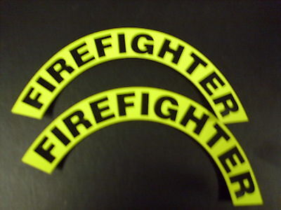 Crescents  Pair Firefighter 3M Yellow  For Fire Helmet Or Hardhats