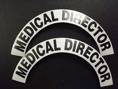 Crescents  Pair Medical Director  For Fire Helmet Or Hardhats