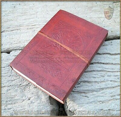 Handmade cotton paper Leather journal Tree of Life - large Celtic