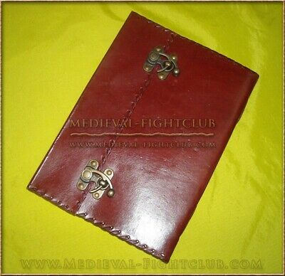 Handmade Cotton Paper Leather Journal - Double latch
