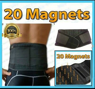 Double Pull Bio Magnetic Lumbar & Lower Back Support Belt Sport