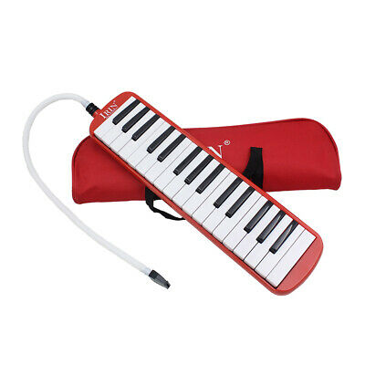 32 Piano Key Melodica Harmonica Music Instrument for Beginners w/ Bag Red
