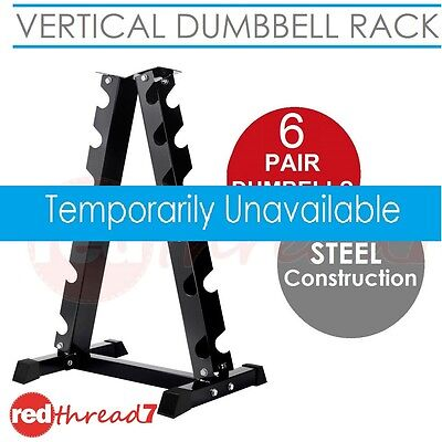 Vertical Dumbbell Rack 6 Pair Storage Hex Weight Stand Home Gym Fitness 2 Pack