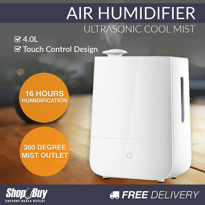 4L Air Humidifier Ultrasonic Cool Mist Nebuliser Aroma Steam Purifier Diffuser