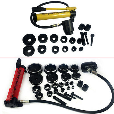 10T/15T Hydraulic Knockout Punch Hand Pump 6/10 Dies Hole Tool Driver Kit + Case