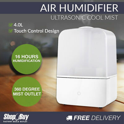 Air Humidifier Ultrasonic Cool Mist Nebuliser Aroma Steam Purifier Diffuser 4L