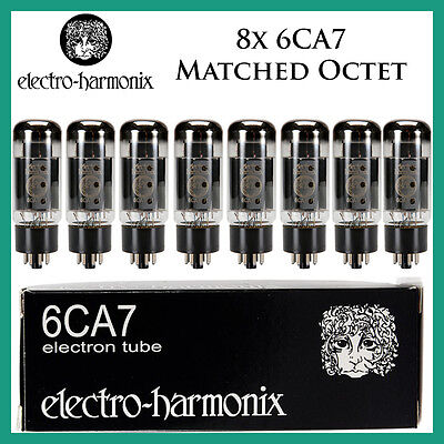 New 8x Electro Harmonix 6CA7   Matched Octet / Eight   EH   Free Ship