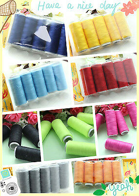 5 X 200yd DIY Polyester machine hand Sewing Thread craft W114-W263