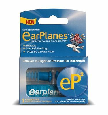EarPlanes® eP2 Reusable Earplugs -1 Pair