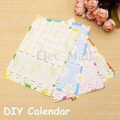 13 sheets Daily Planner Sticky Notes Memo Calendar Pad Schedule Check List Plan