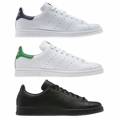 adidas S BASKETS STAN SMITH POUR HOMMES NOIR BLANC TAILLES UK 7 12.5 CHAUSSURES