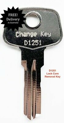 Universal Change Key-Thule Lock Core Removal Key D1251-FREE POST IN AUSTRALIA