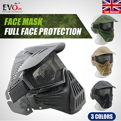 Tactical Airsoft Full  Face Protection Safety Mask Guard high quality uk STOKC