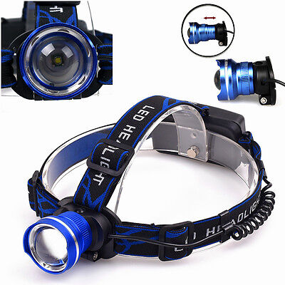 XM-L 3 mode Rechargeable Headlamp Torch 5000LM T6 LED Headlight Lamp
