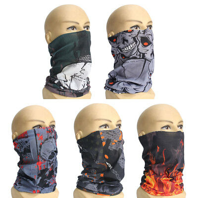 Unisex Men Skull Head Scarf Snood Neck Face Wear Bandana Tube Mask Durag Biker