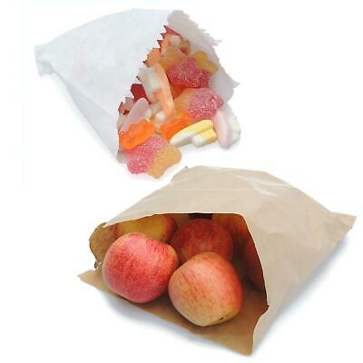 White Sulphite Brown Kraft Strung Sweet Food Fruit Veg Market Paper Bags S M L
