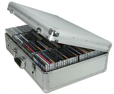 Citronic 127.066UK Aluminium Lined Locking CD Flight Cases Holds 120 Jewel Cases