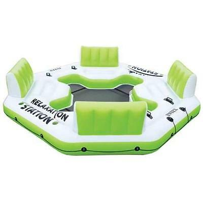 Large Green 4 Person Inflatable Vinyl Ride On Seat Swimming Pool Lake Raft Float