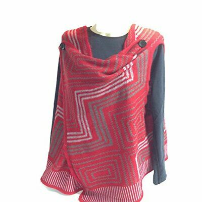 The Good Bead Coco & Carmen Red & Grey Shoulder Vest